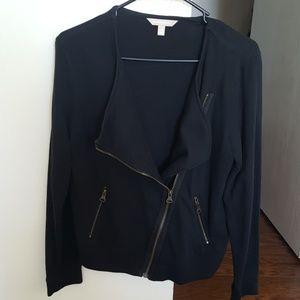 Cotton/polyester biker style/utility jacket
